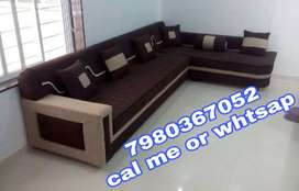 Brand new 6 seater sofa set in brown and cream color at factory price