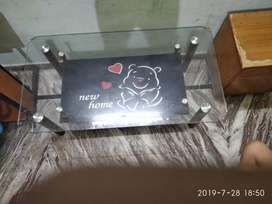 Centre table with double shelf