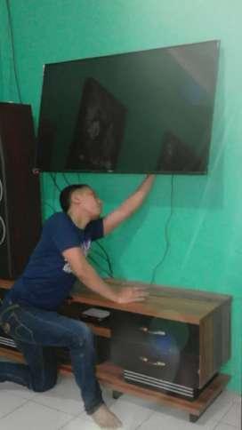 pasang jual bracket tv lcd led buat gantungan penempel di tembok