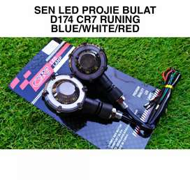 Sein reting les bulat model proji dua warna Running led barang baru