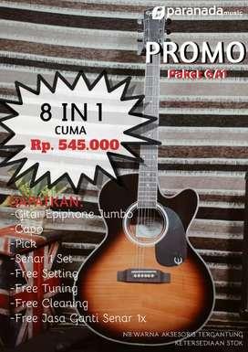 PROMO PAKET HEMAT! Paket GA1 Gitar Akustik Epiphone Jumbo