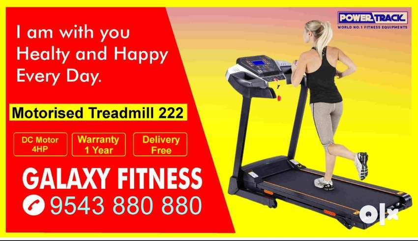 MOTORISED TREADMILL EXERCISE MACHINE, VERY LOWEST PRICE & BEST QUALITY 0