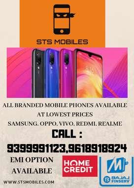 All Branded mobiles (REDMI,REALME,VIVO.OPPO,SAMSUNG) available
