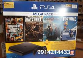 ps4 1 tb with 12 games with bill and one year warranty -26500