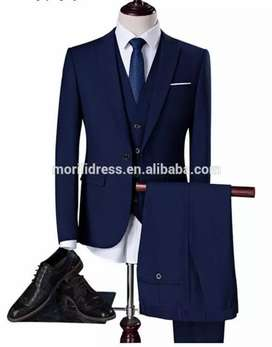 4 piece suit for man navyblue