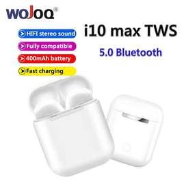 WOJOQ TWS Earphone Bluetooth Headset 5.0 with Charging Case - i10 - Ma