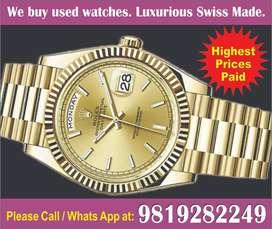 Rolex Datejust Cash your watch Omega Cartier Patek Hublot Vacheron