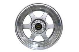 Velg keren AMW Volk Rays R15x7/8 H4x100/114 buat sigra calya Datsun