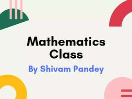 Mathematics classes by Shivam Pandey