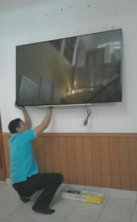 pasang jual BRACKET TV LED LCD untuk gantungan penyangga di tembok