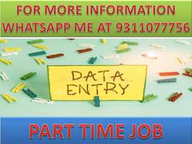 4k to 6k Earn weekly Part time job of data entry home based work.Apply