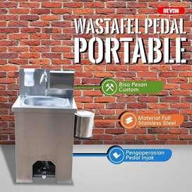 wastafel portable stainless kran pedal / injak premium di ngawi