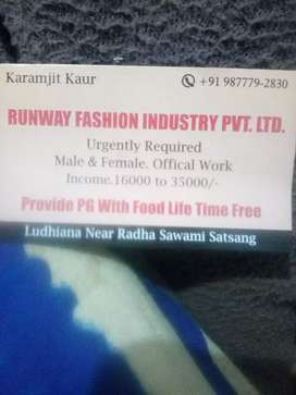 Urgently required mail female official work