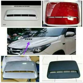 Air scoop kap mesin model fortuner ready