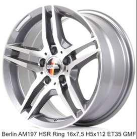 Velg mobil mercy BERLIN AM197 HSR R16X75 H5X112 ET35 GMF
