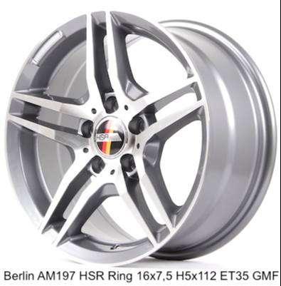 Velg mobil mercy BERLIN AM197 HSR R16X75 H5X112 ET35 GMF 0