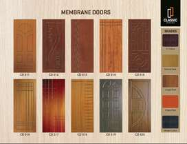 Panel doors, membrane doors