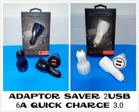 Car Charger Qualcomm 3.0 3.1A Pegisian Daya Cepat