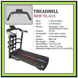 alat fitness lari Treadmill Elektrik TL 615