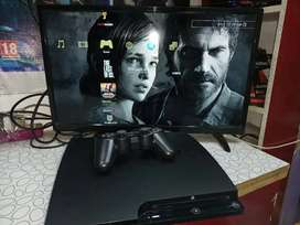 PS3 slim 320GB like new condition 26 Games Installed