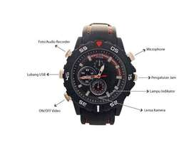 Kamera Jam tangan 8GB / Spy Cam Jam Tangan Tali Hitam