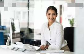 Wanted office Female receptionist