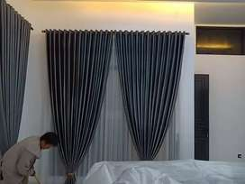 Curtain Gorden Rumah & Apartemen Hordeng Gordeng Korden Gordyn w0014