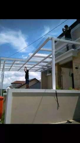Canopy kaca RAFA STEEL