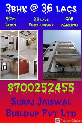 100 SQ yards 3bhk at 36 lacs with lift and car parking in uttam nagar