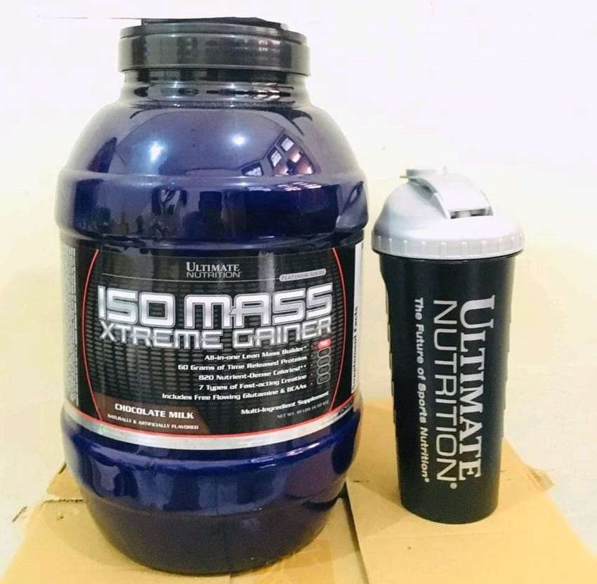 Ultimate Iso Mass Extreme Gainer 10lb BPOM Plus Shaker Ultimate USA. 0