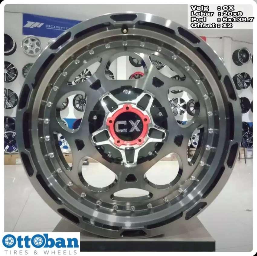 Velg mobil Fortuner Pajero Everest  murah CX R20X9 hole 6x139.7 ET 12 0