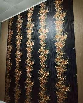 Wallpaper dinding timbul dan mewah