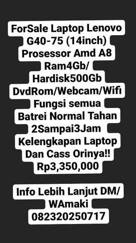 ForSale Laptop Lenovo G40-45 (14inch)