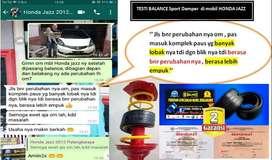 BALANCE DAMPER ( Peredam LIMBUNG & GRUDUK2 ) mobil, BerGaransi 2 TAHUN