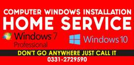 computer windows installation services AT home and Office or school