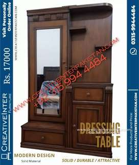 Dressing table economical sofa bed dining center table chair Almari
