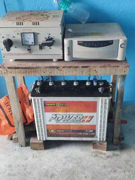 180 AH battery with microtek inverter and 1kb stabilizer