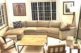 L sofa 5 seater home center beige