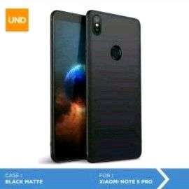 Case Redmi Note 5 Pro Silicone Slim Soft Case Full Blackmatte New