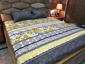 Cotton Salonica Beddsheets with 2 pillow covers