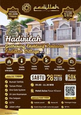 Promo ahir tahun Fadillah village DP NOL %