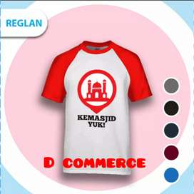 T-shirt distro raglan cotton combed MASJID
