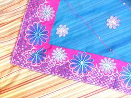 Sarees for sale in hot Pink & Blue expensive sarees.