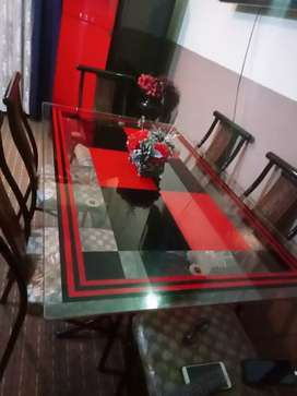 dining table red and black style
