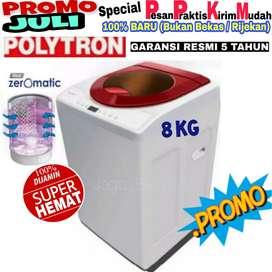 Mesin cuci polytron 1 tabung murah 8kg