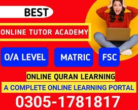 Online Tutor/FA/FSC/BA/BSC/MA/School teacher available / Home Tutor av