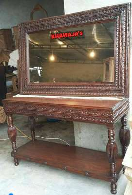 wooden console brand new