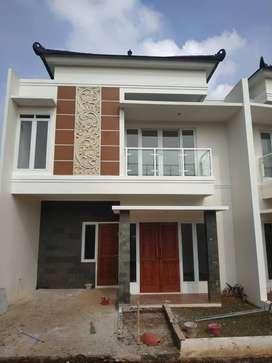 Rumah Depok 2 Lantai Cimanggis Gaya Bali Gratis Biaya Dekat Tol