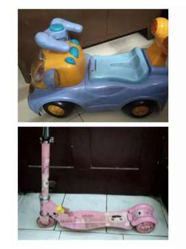 Kids car and scooter
