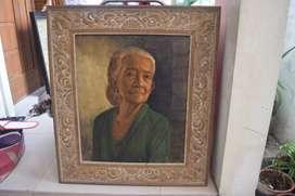 """Lukisan wanita Bali, karya """"Dullah, cacing"""" Solo"""